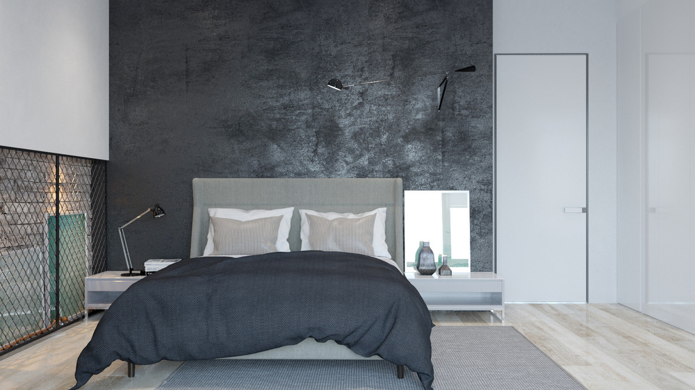 minimalist gray bedroom design