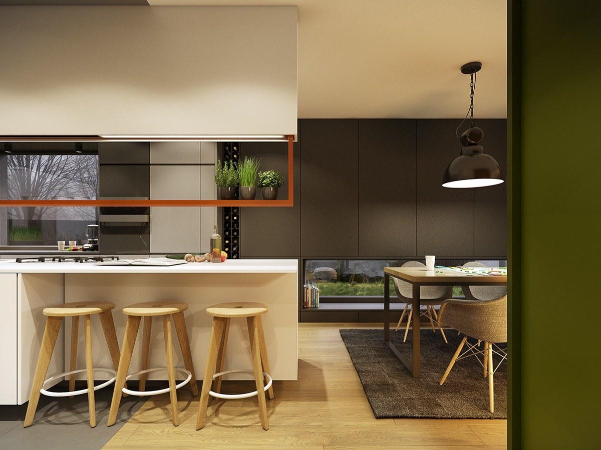 trendy kitchen set design