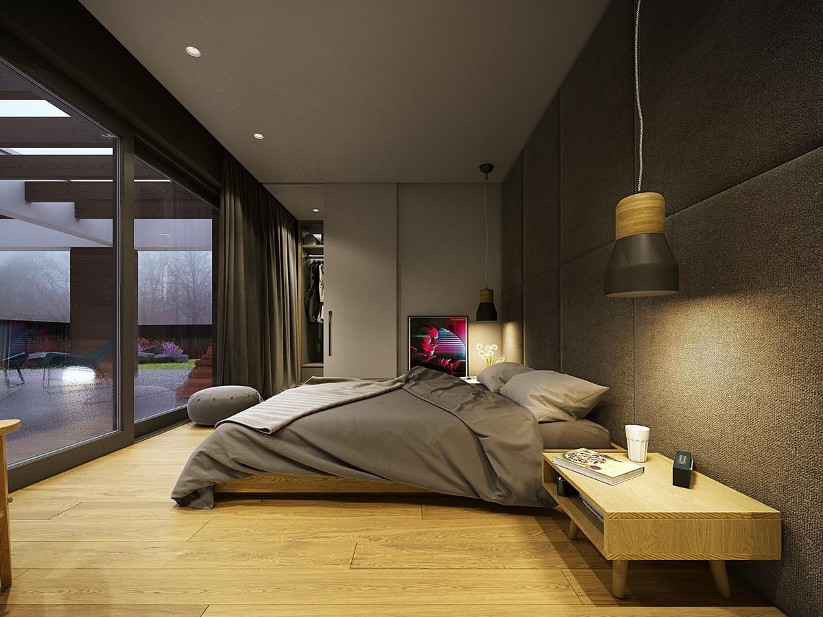 trendy gray bedroom decor