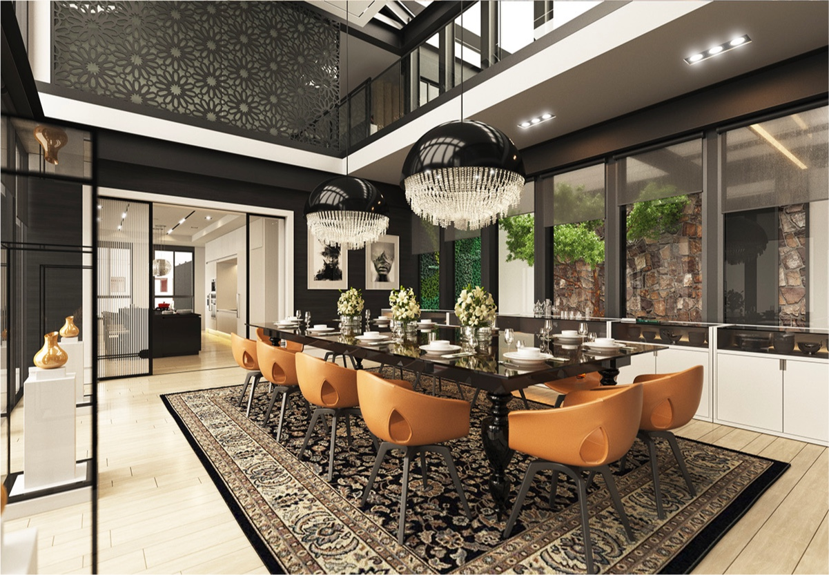 How to arrange modern dining room designs which completed for Design dinner room