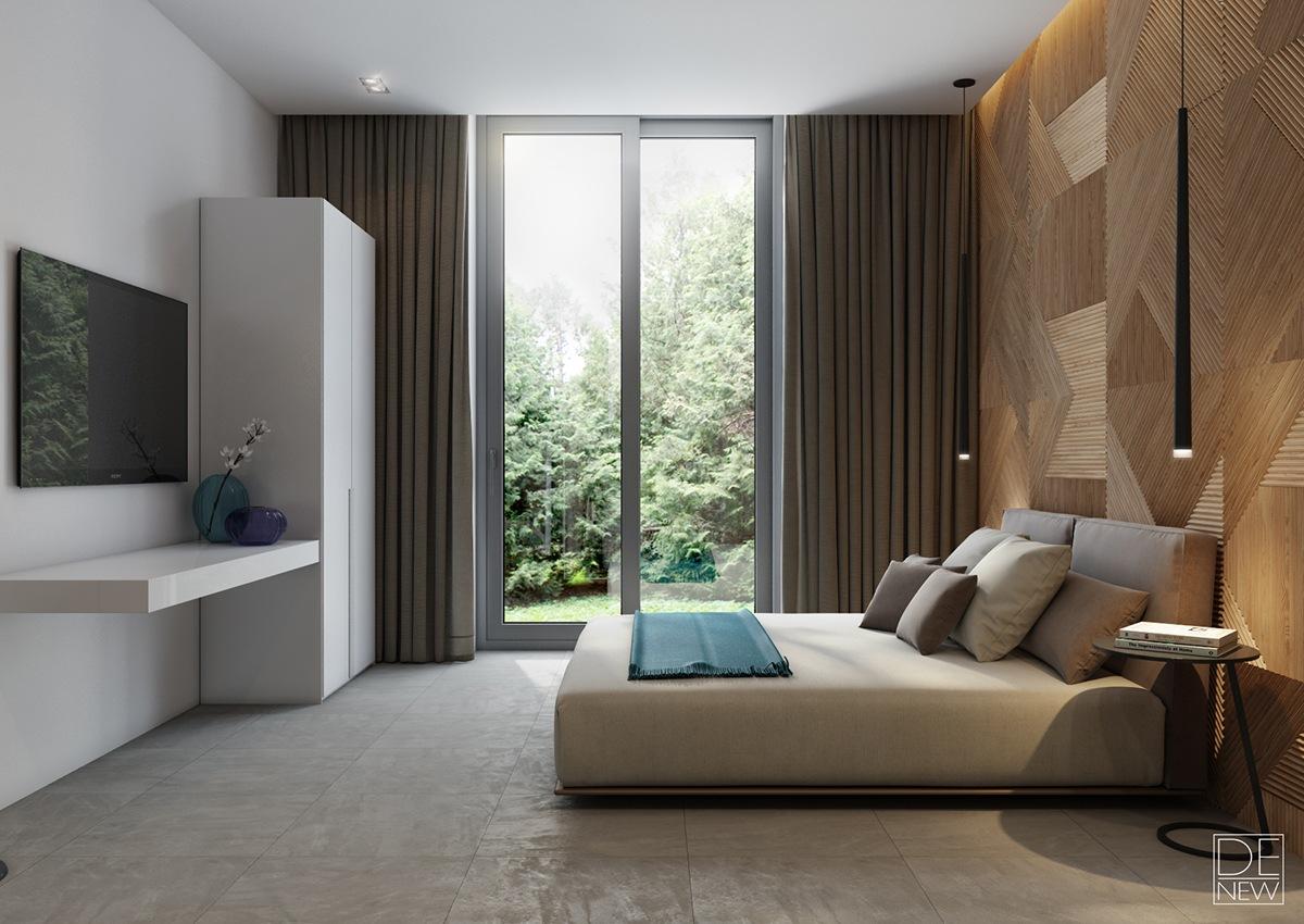 simple and minimalist bedroom