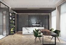 luxury kitchen set design