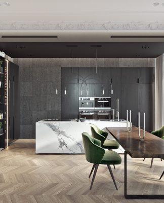 gorgeous kitchen set design