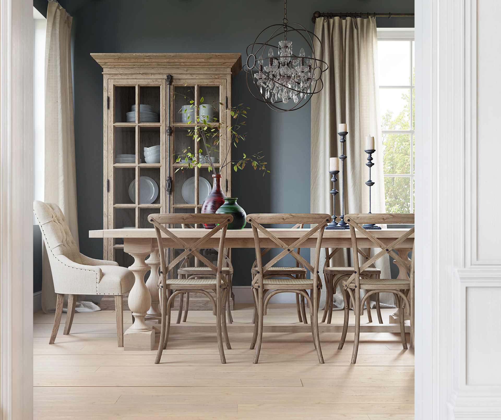 Trendy dining room designs combined with modern and for Dining room styles 2016