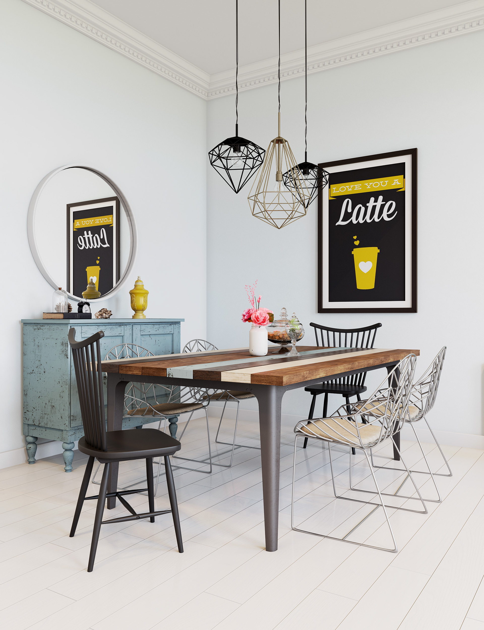 scandinavian dining decor