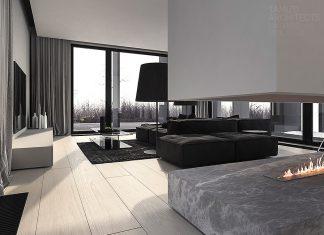 minimalist gray home design
