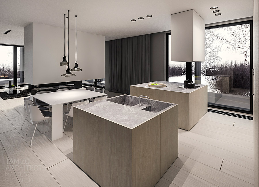 minimalist kitchen set design