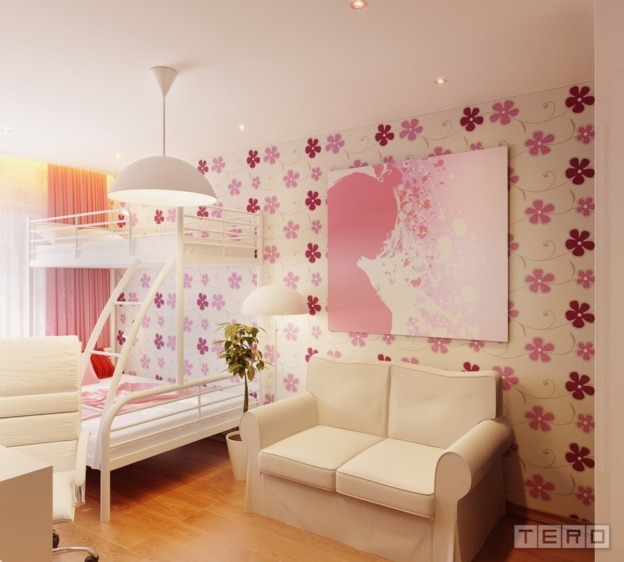 Attractive Girls Room Decor Which Applying Pink Color Accent ...
