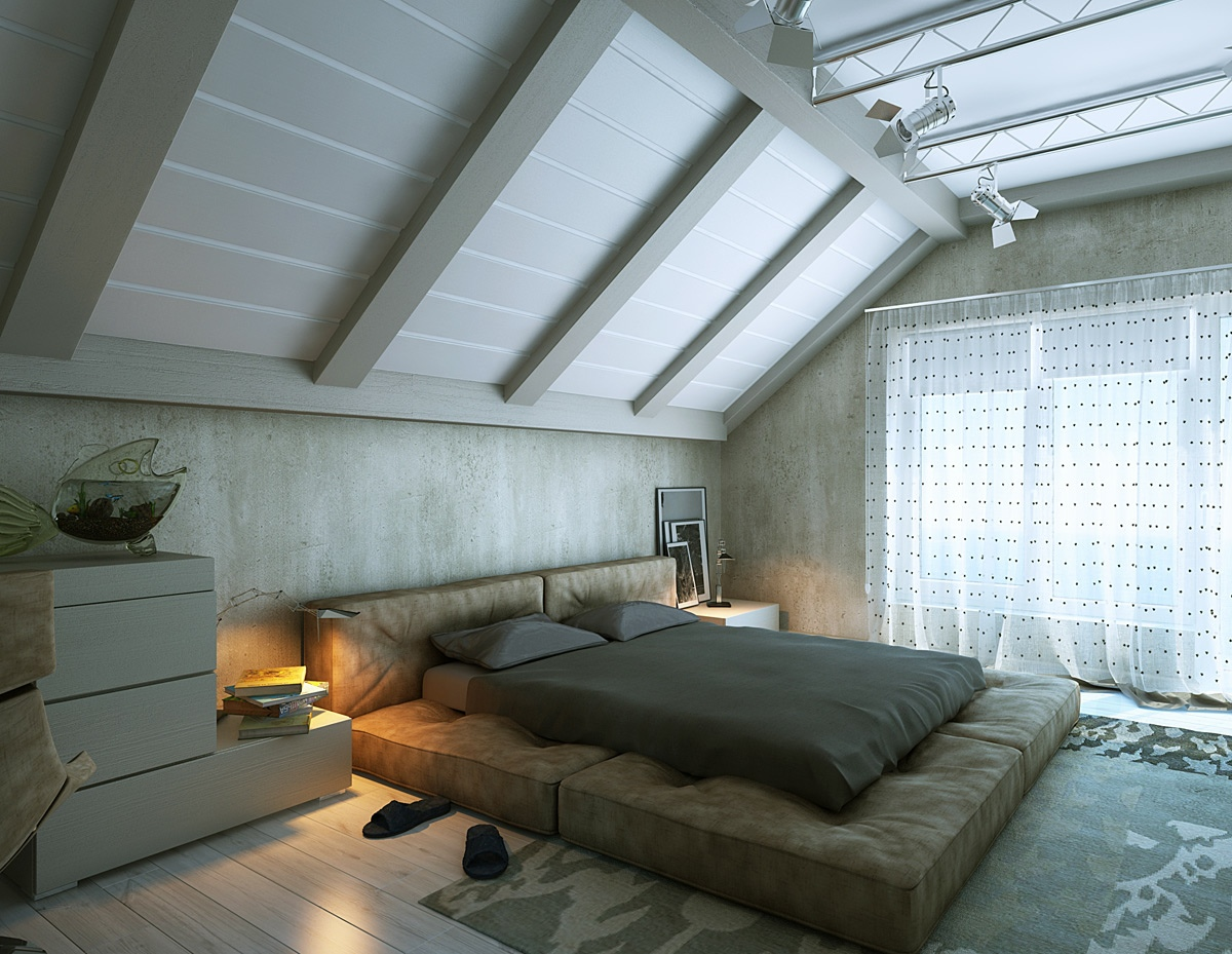minimalist loft bedroom decor