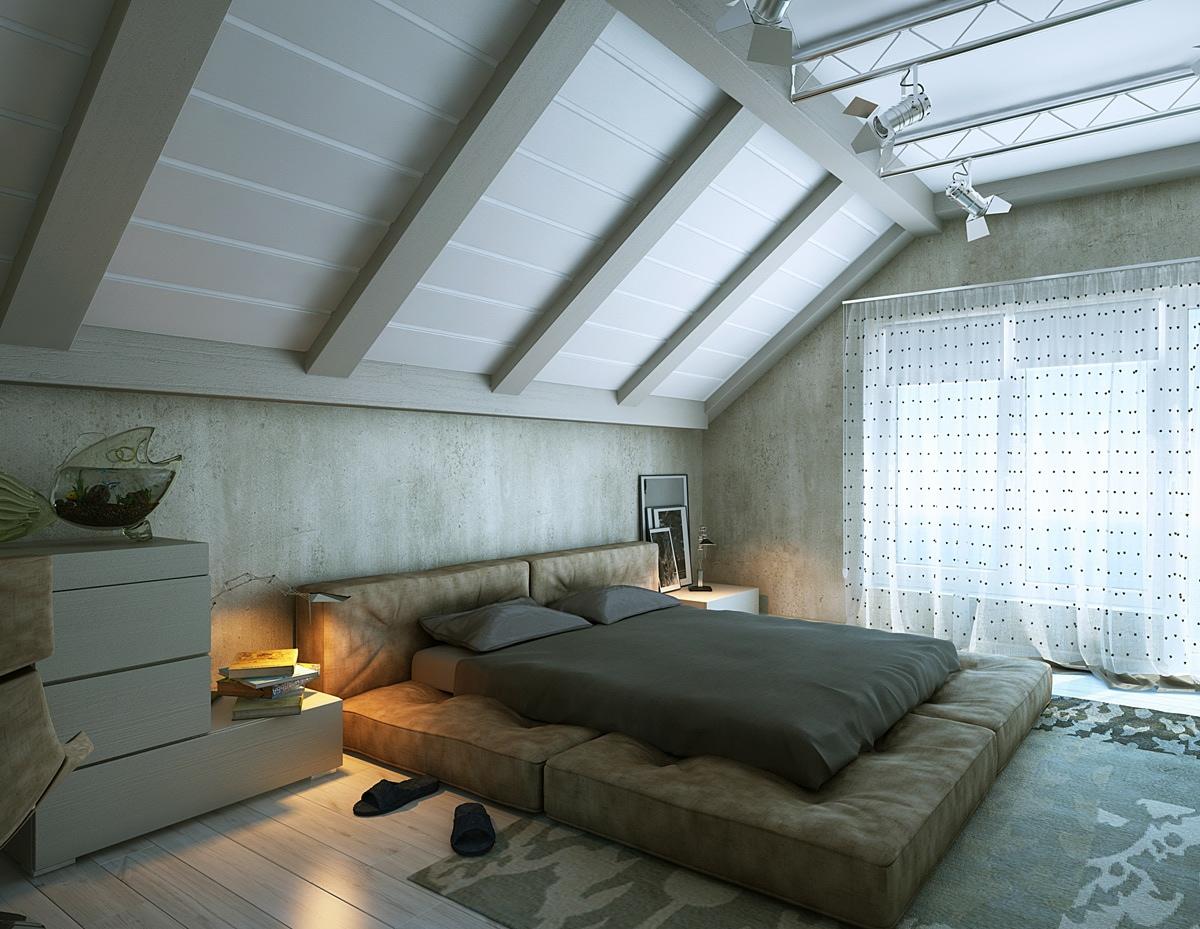 minimalist loft bedroom decor