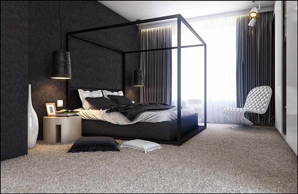 dark modern bedroom