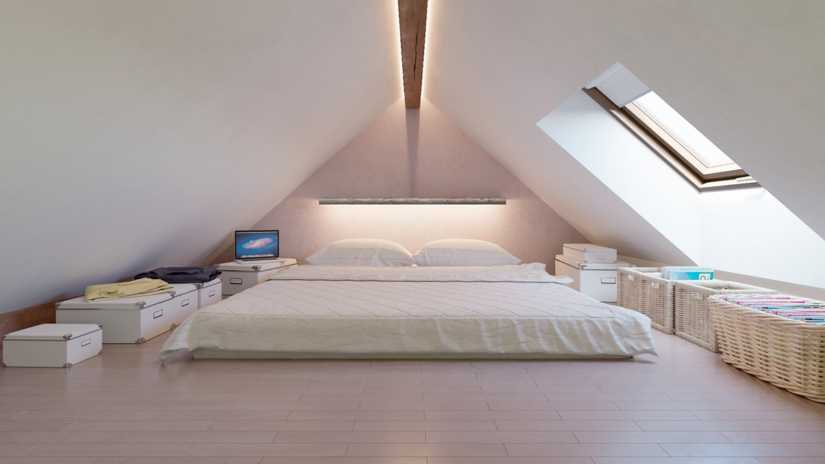 white minimalist bedroom decor