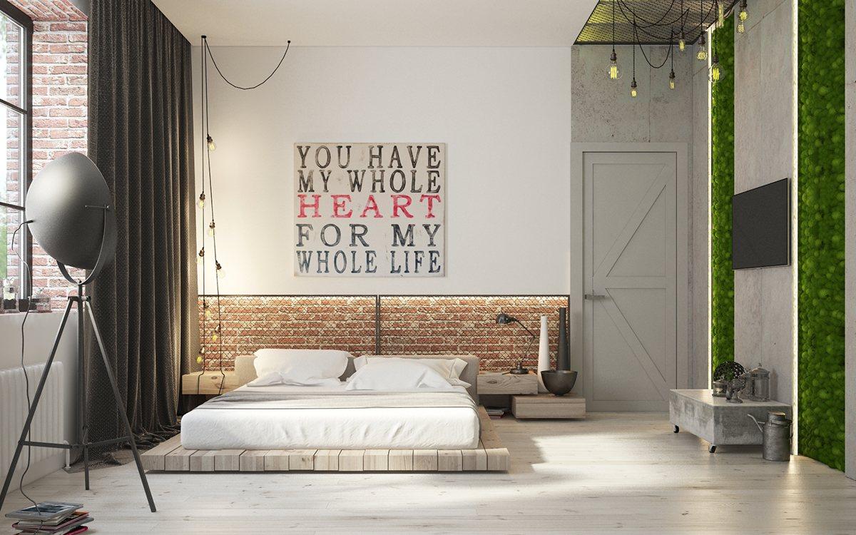 white minimalist bedroom decor
