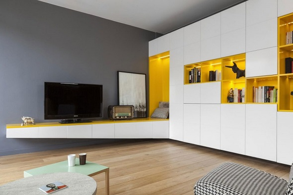 Minimalist small apartment design ideas