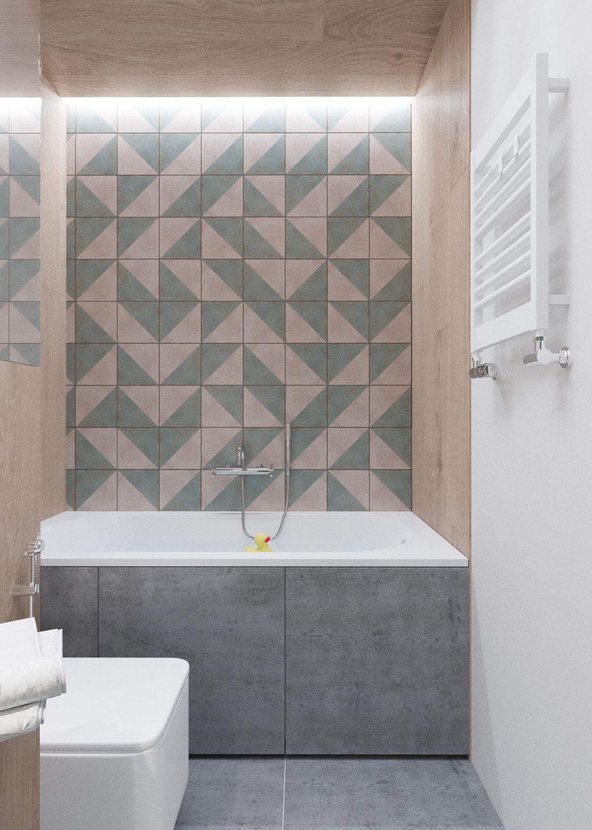 hexagonal wall pattern design
