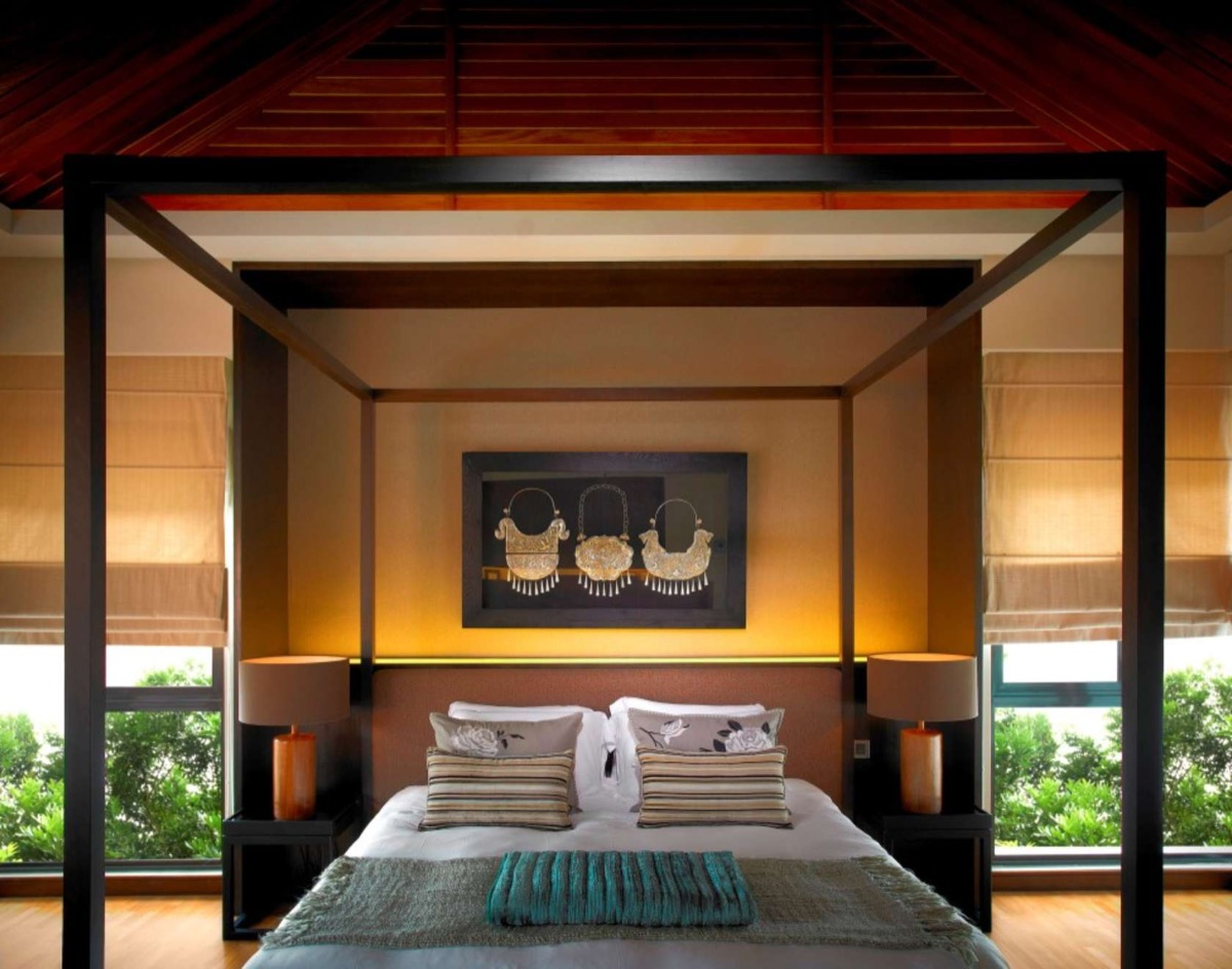 gorgeous bedroom with classic features