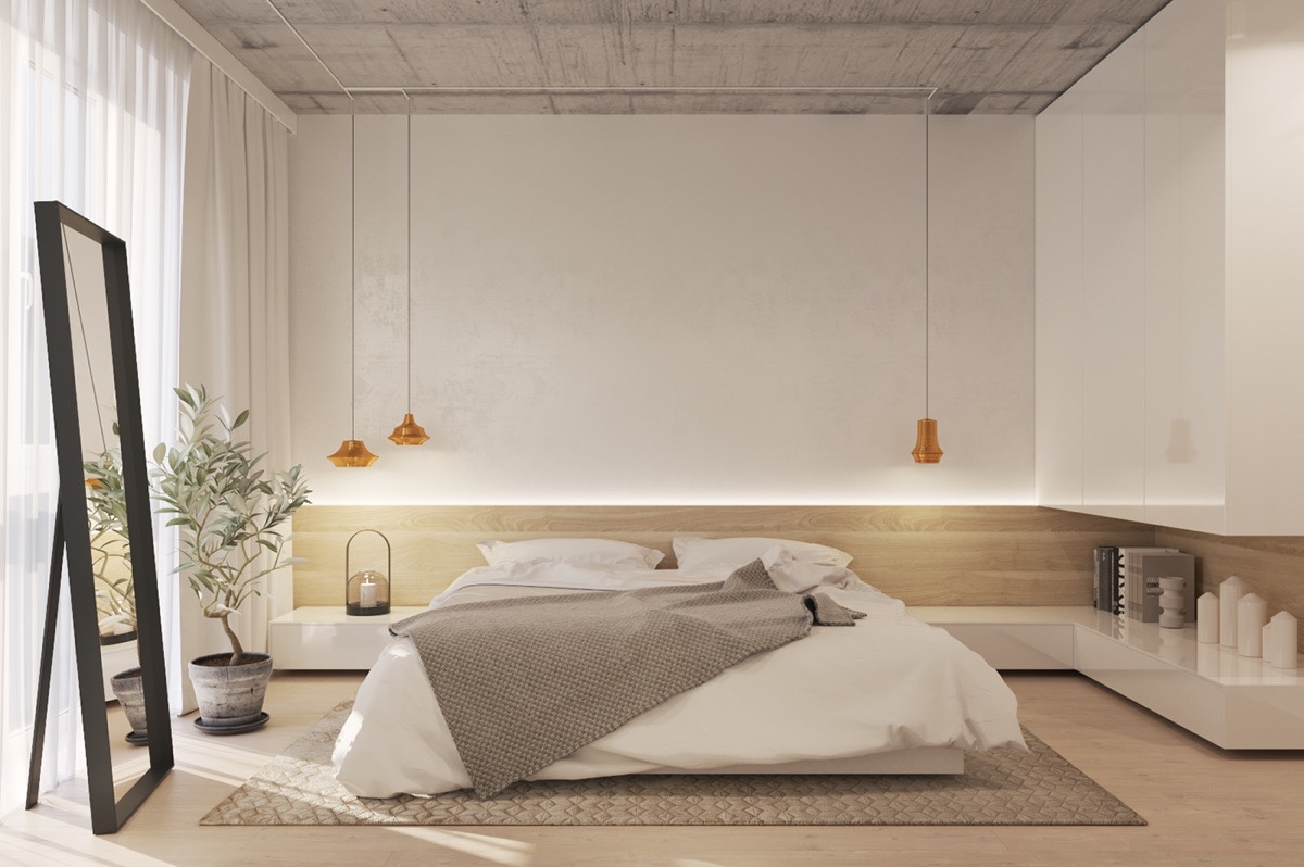 10 top of minimalist bedroom ideas combined with modern for Home decor minimalist modern
