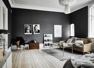 black and white scandinavian home design