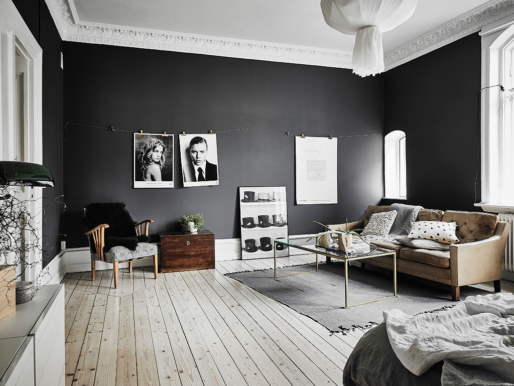 Black and White Scandinavian Home Design Ideas Include With a ...