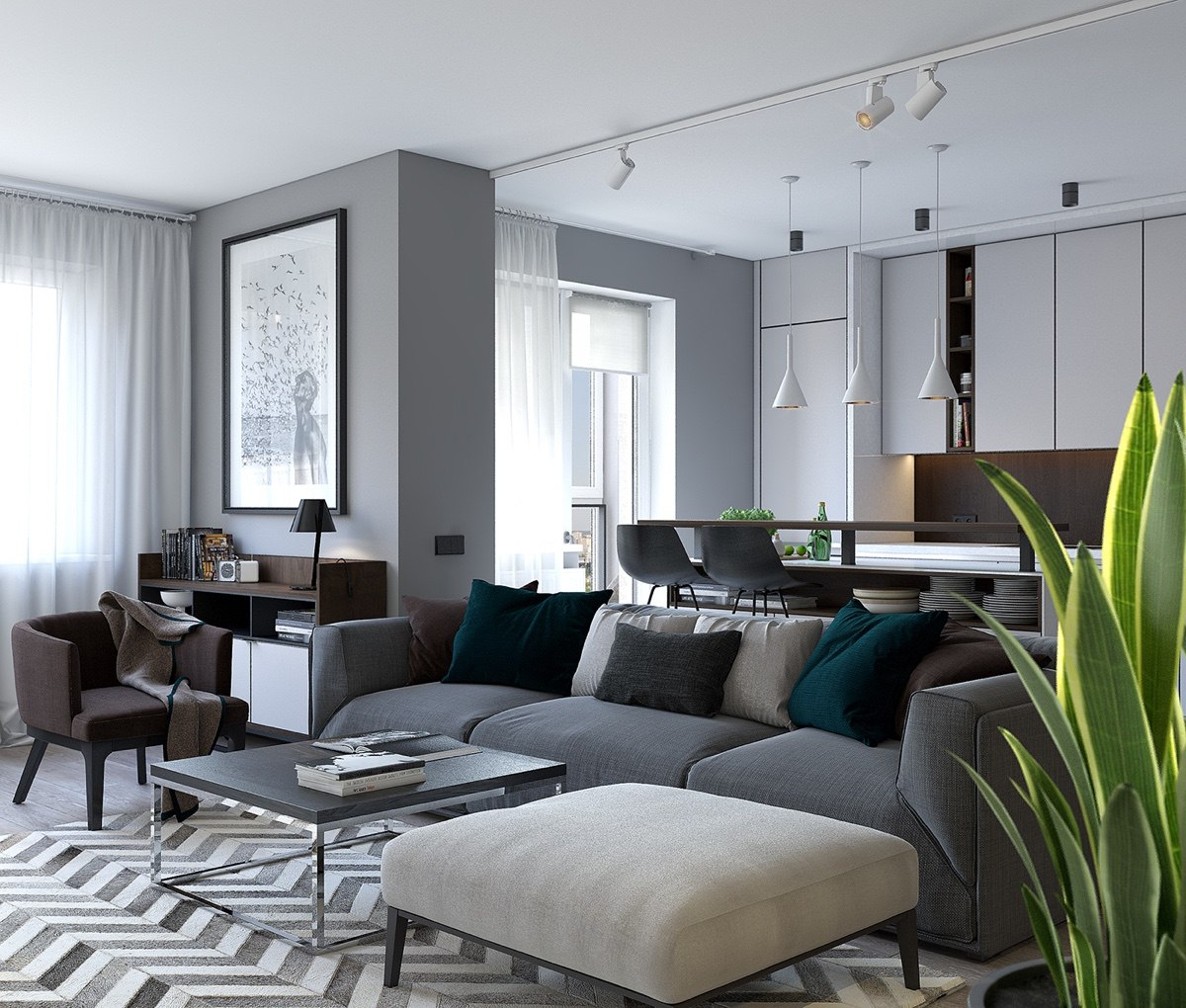 gray color shade decor