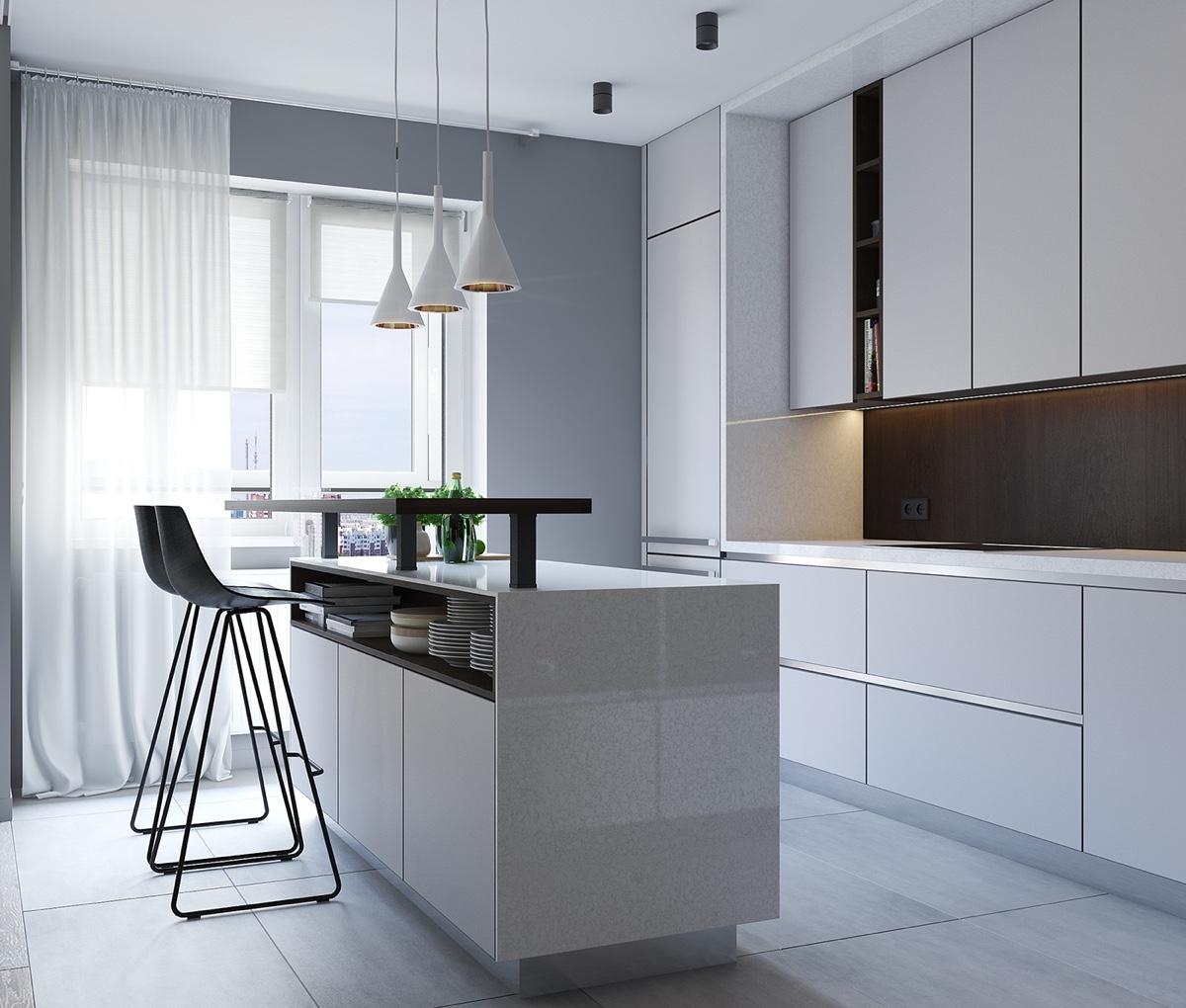 white minimalist concept design