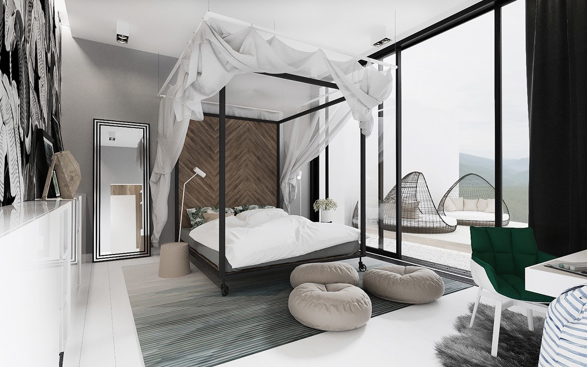 types of luxury bedroom designs which applying a contemporary and