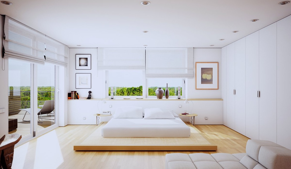 The Uniqueness Of Minimalist White Bedroom Designs Which