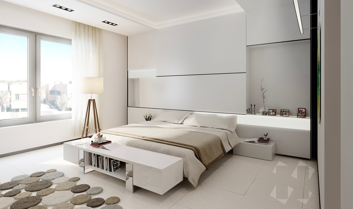 minimalist white bedroom design