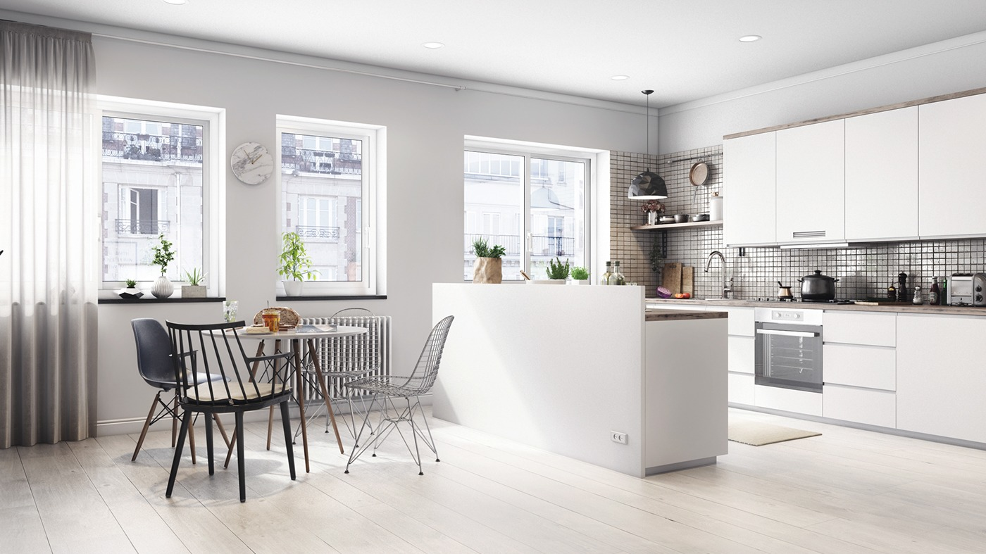 refl studio scandinavian white dining room - Nordic Home Design