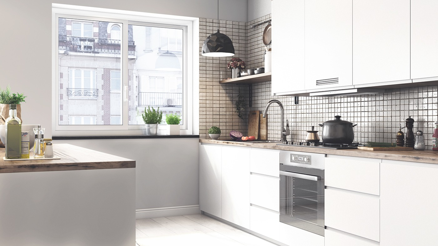 scandinavian white kitchen design
