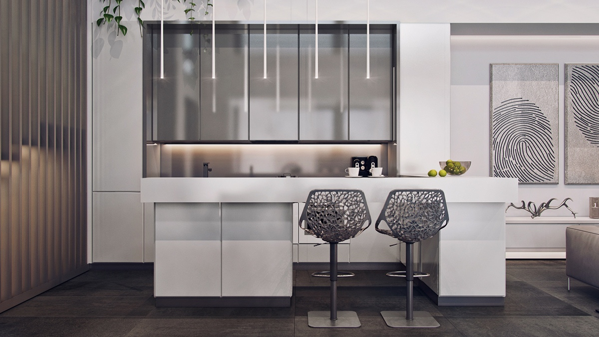 luxury gray kitchen design