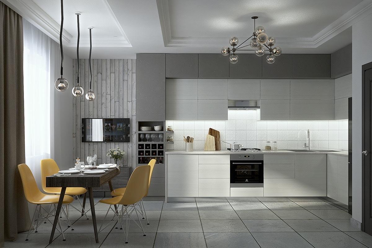 luxury kitchen set decor