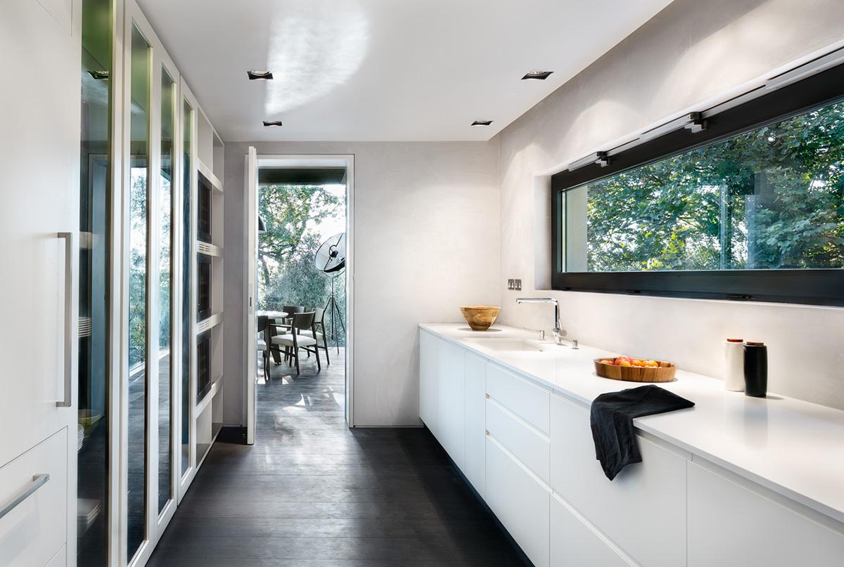 monochrome kitchen design
