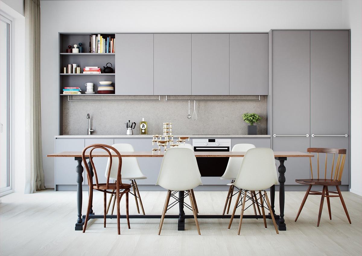 De Rosee Sa Minimalist White Kitchen Design