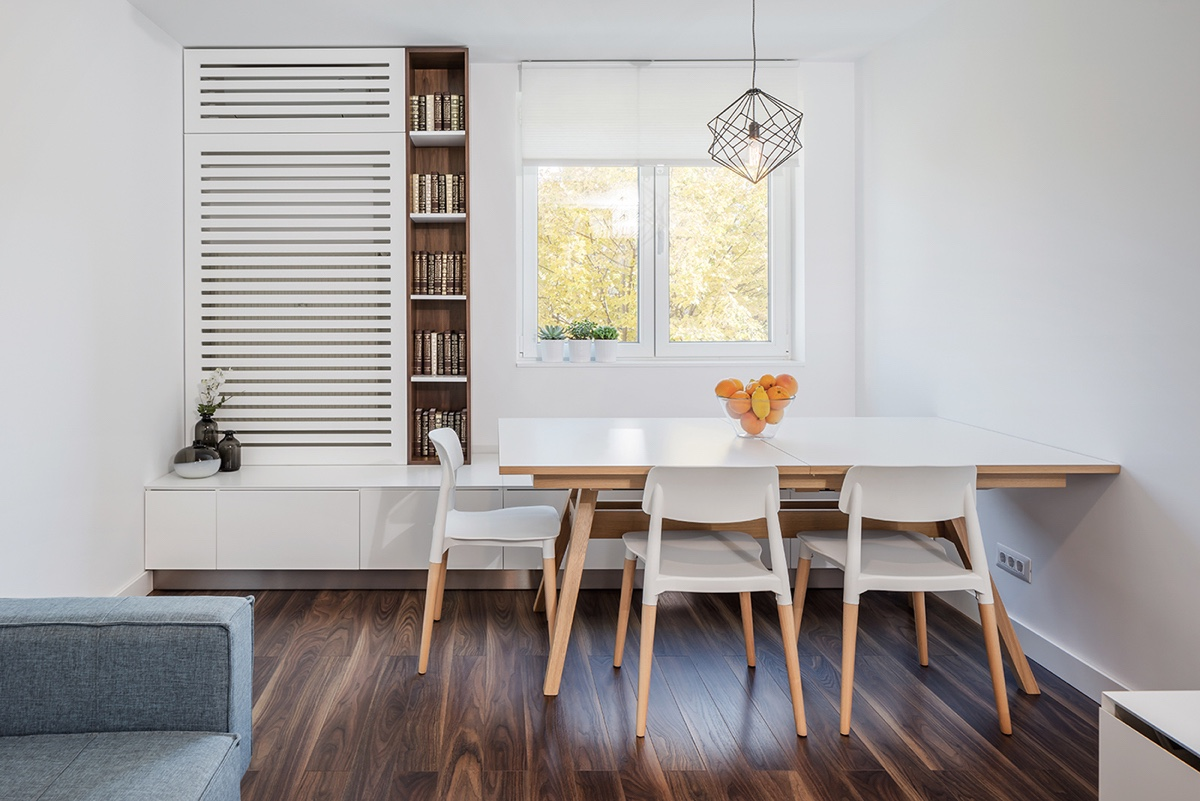 white small dining room