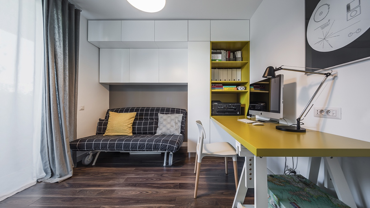 minimalist work space and office