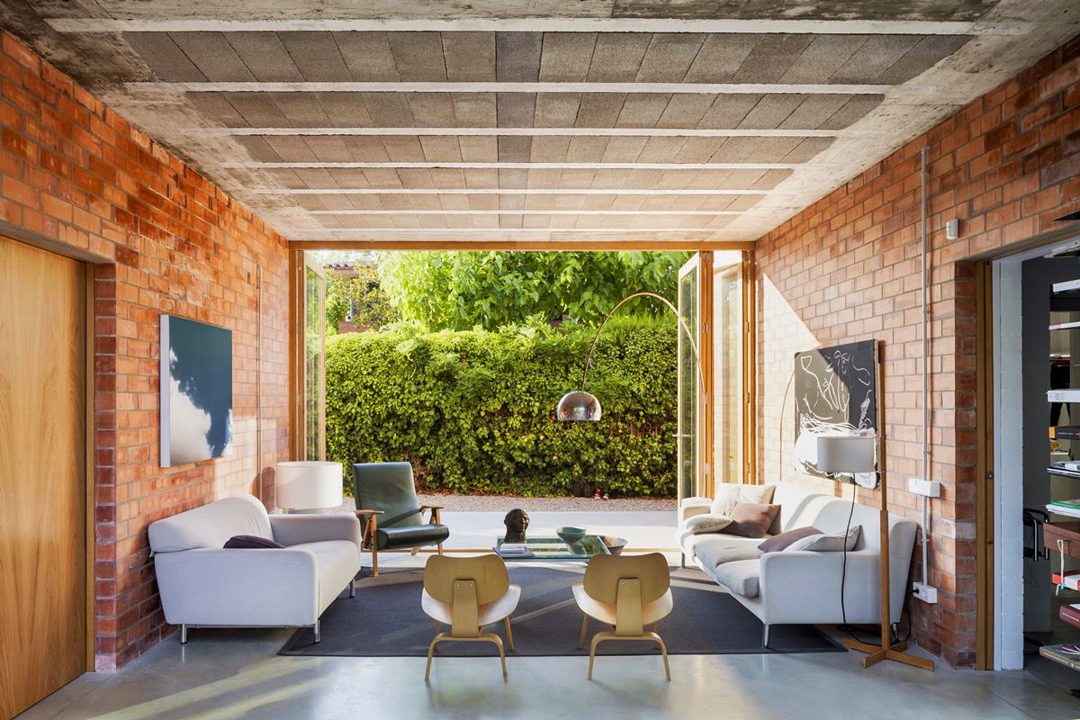awesome brick rustic living room