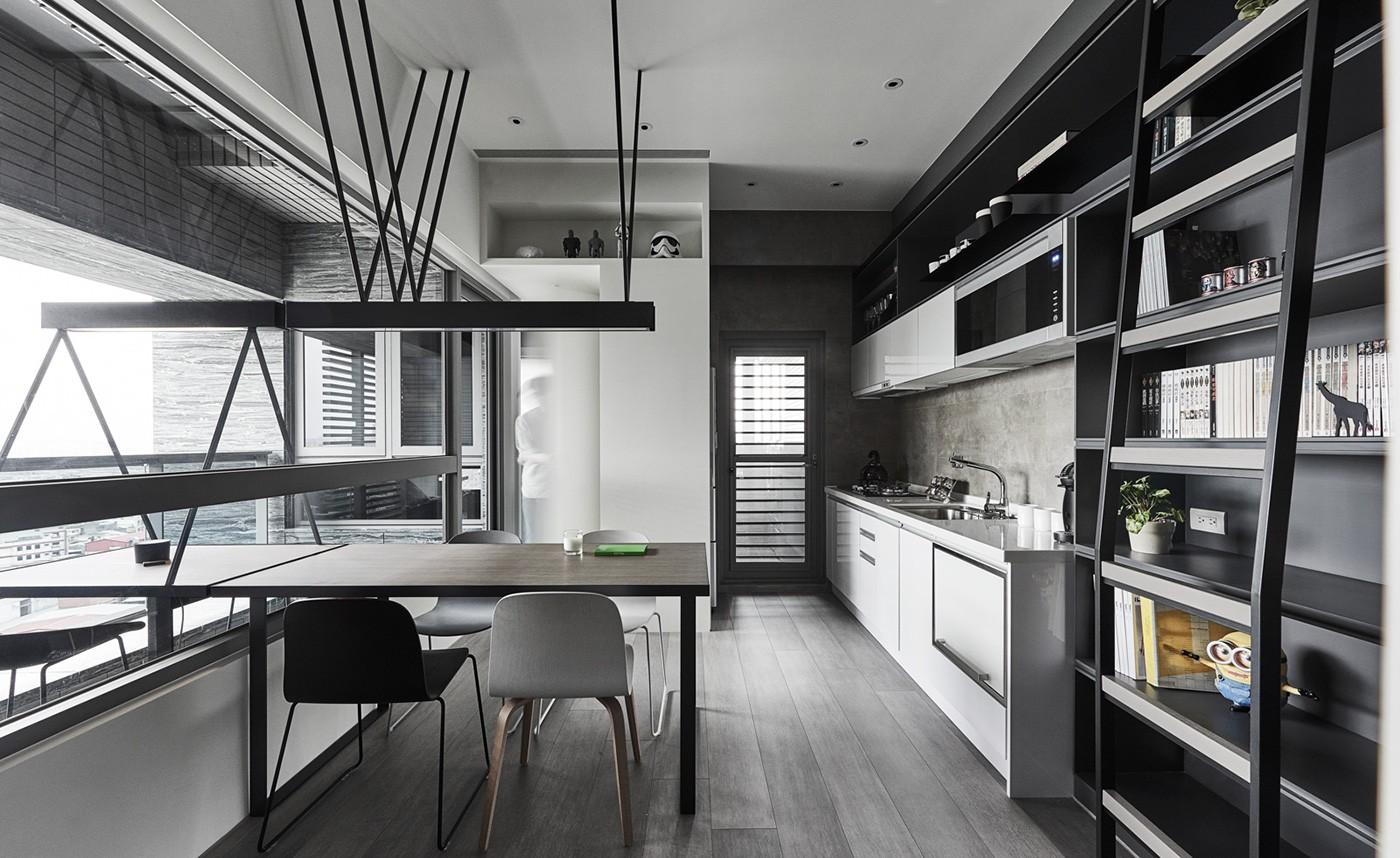 contemporary gray kitchen design