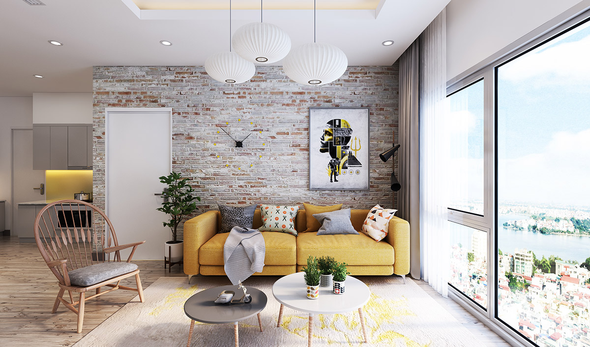 amazing living room design ideas exposed brick ideas - best image