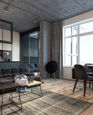 modern open plan interior design