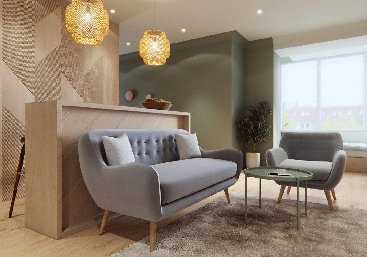 chic small living room