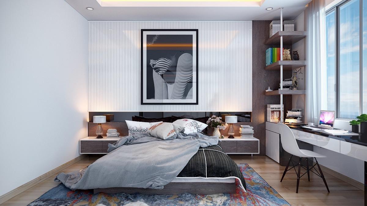 minimalist white bedroom decor