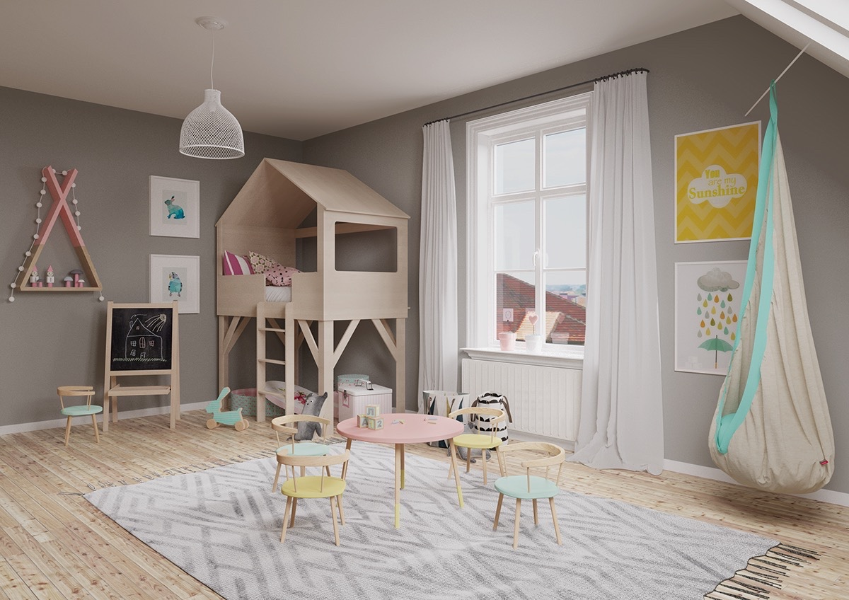 cute kids room design