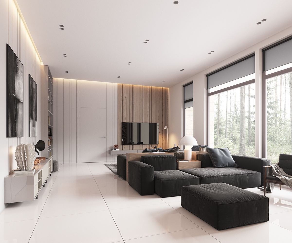 minimalist home design with muted color and scandinavian interior. Black Bedroom Furniture Sets. Home Design Ideas