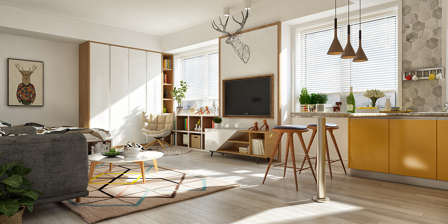 Applying a scandinavian home interior design with an for Tips for interior design for small flat
