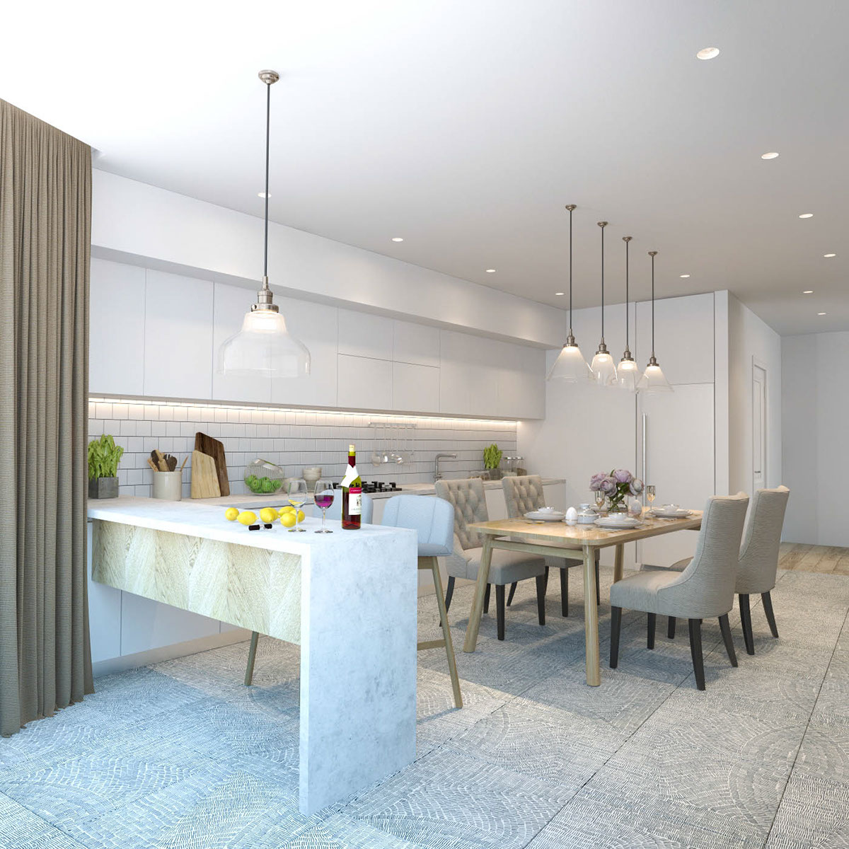 Apartment Living For The Modern Minimalist: Minimalist Apartment Design Which Combine A Modern Decor