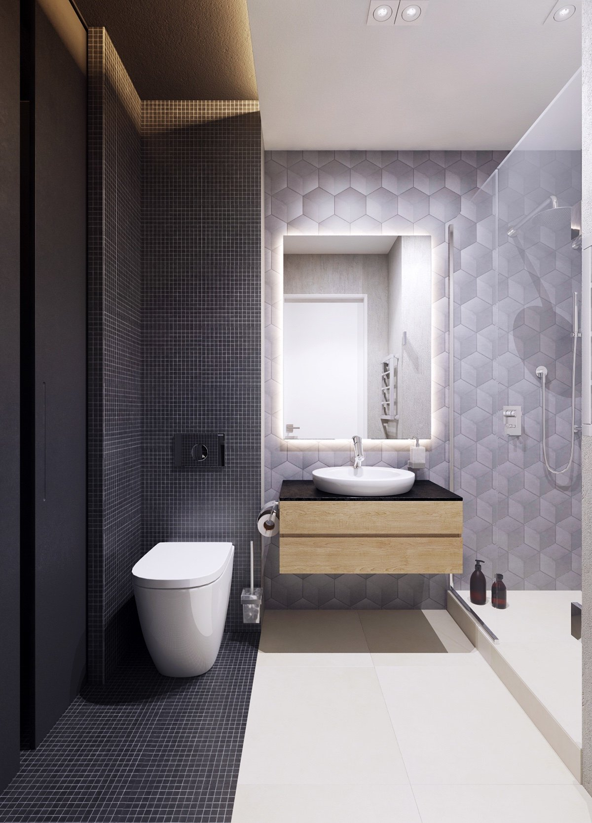 small modern bathroom decor
