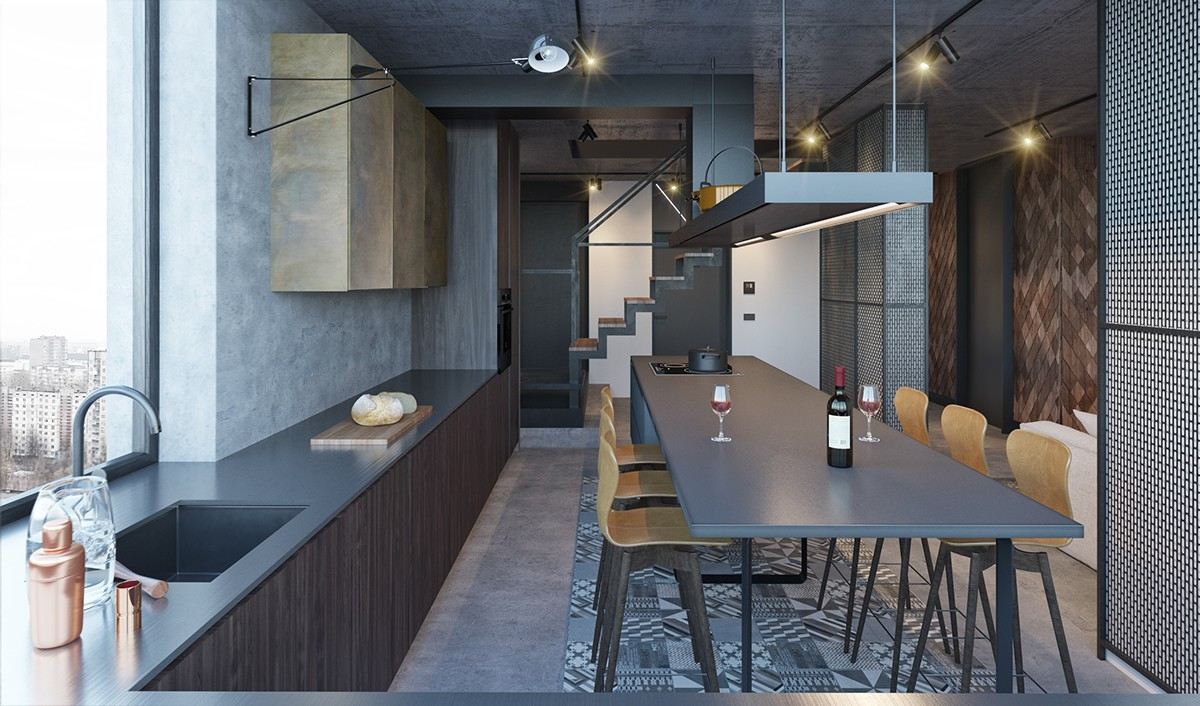 trendy kitchen and dining