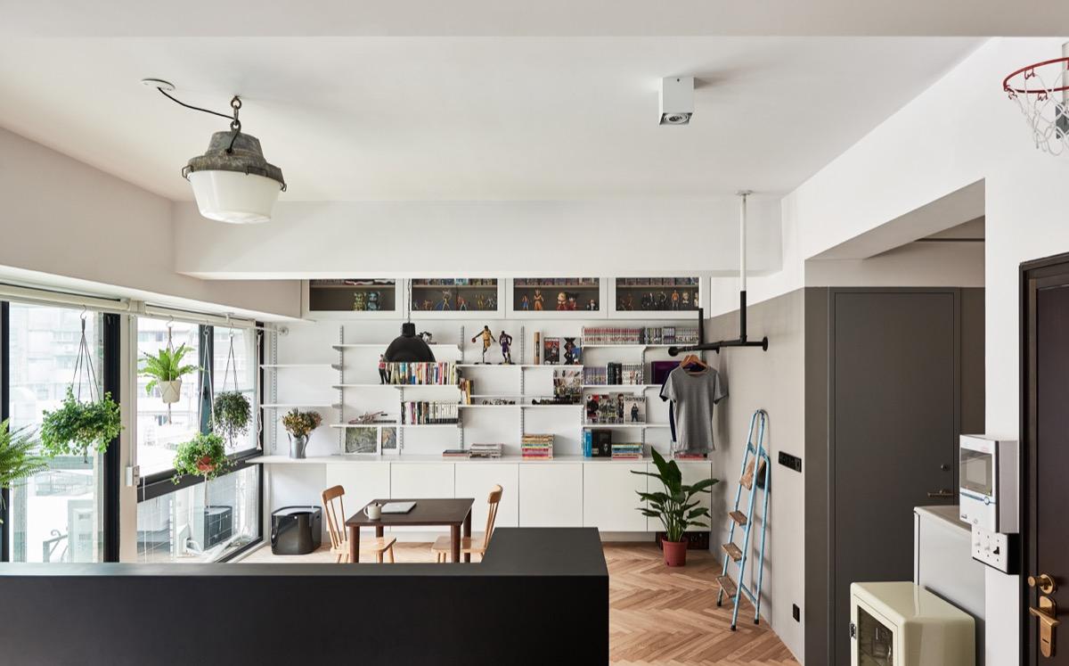open plan hungarian loft design