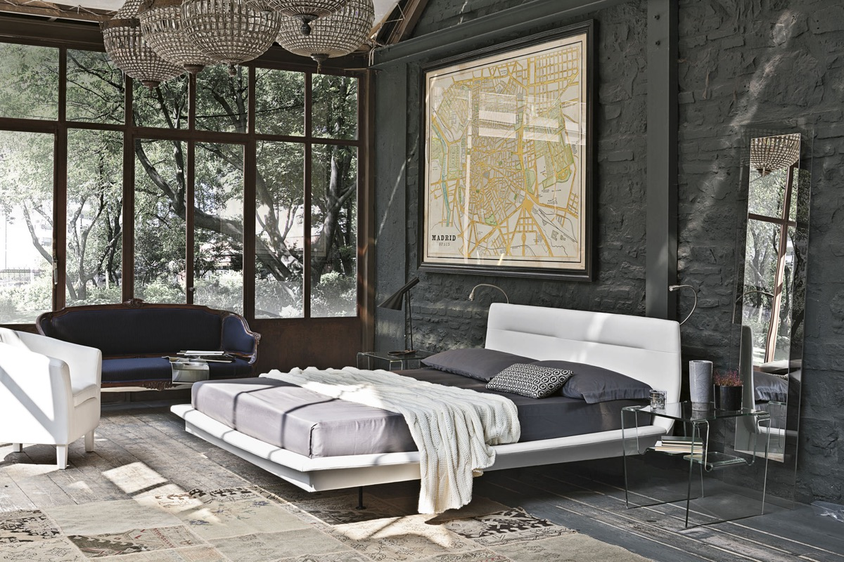 contemporary gray bedroom
